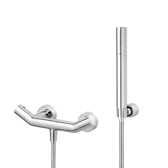 Shower Mixer W/Hand Shower & Hose & Wall Bracket
