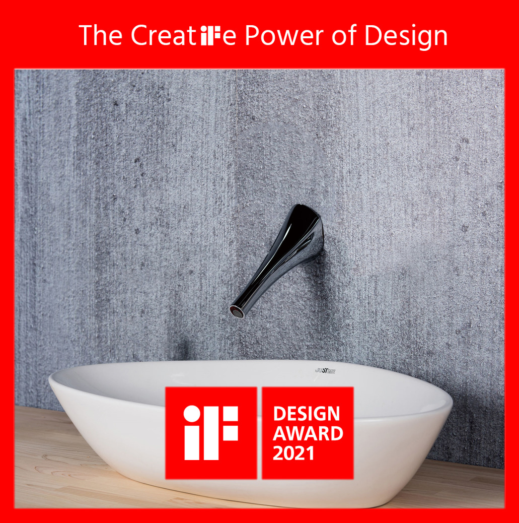 號外! 巧時代衛浴的NATURE系列壁式感應龍頭和浴室配件榮獲2021年iF設計獎殊榮!